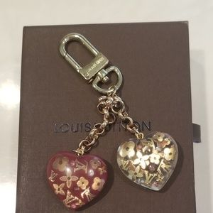 Louis Vuitton Hearts Inclusion Key Holder/ Charm